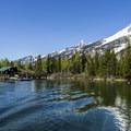 The water of Jenny Lake is marvelously blue and clear.- Jenny Lake Boat Tour
