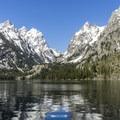 Cascade Canyon from Jenny Lake.- Jenny Lake Boat Tour