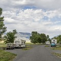 Most of the sites are pull-through along the roads.- North Fork Campground