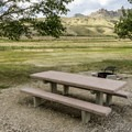 Typical campsite at North Fork Campground.- North Fork Campground
