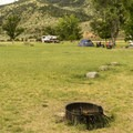 Open space at Lewis and Clark Campground.- Lewis and Clark Caverns State Park Campground