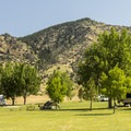 The campground offers lots of space between campsites.- Lewis and Clark Caverns State Park Campground
