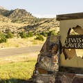 Lewis and Clark State Park entrance.- Lewis and Clark Caverns State Park Campground