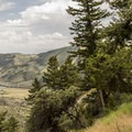 Views along the upper trail are nice.- Lewis and Clark Caverns