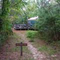 A yurt.- Kiptopeke State Park Campground