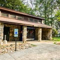 Restrooms and vending are available at the park's center.- Caesar's Head State Park
