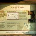 Information and maps of the area.- Caesar's Head State Park