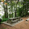 Picnic areas are near the overlook.- Caesar's Head State Park