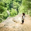 The main ledge that overlooks Bradley Falls.- Bradley Falls