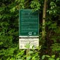 Signage warns against vandalism.- Bald Rock Heritage Preserve