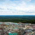 The view from the top of Bald Rock.- Bald Rock Heritage Preserve