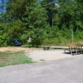 Typical campsite.- Pocahontas State Park Campground