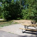 Campsites are for both tents and RVs.- Pocahontas State Park Campground
