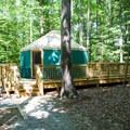 Yurt.- Pocahontas State Park Campground