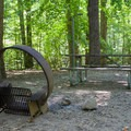 Each site has a picnic table and fire ring.- Pocahontas State Park Campground