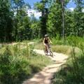 Mountain biking on the Bell Lap.- Pocahontas State Park
