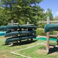 Canoe rentals are available on the park's lakes.- Pocahontas State Park