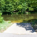 Small boat ramp near the parking area.- Pocahontas State Park