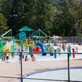 A large pool area with multiple waterslides can be accessed by paying an additional fee.- Pocahontas State Park