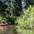 Starting out on the Clearwater/Seeley Lake Canoe Trail.- Clearwater Canoe Trail