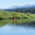 The Clearwater River offers dramatic views.- Clearwater Canoe Trail