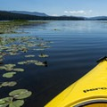 Entering Seeley Lake.- Clearwater Canoe Trail
