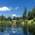 The ranger complex on Seeley Lake.- Clearwater Canoe Trail