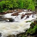 Sawmill Site Falls.- Natural Stone Bridge and Caves Park