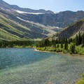 Bullhead Lake.- Swiftcurrent Pass Trail