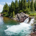 Red Rock Falls.- Swiftcurrent Pass Trail