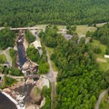 Overhead view of the Ausable Chasm Property.- Ausable Chasm