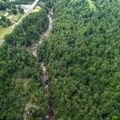 The Chasm as seen from a plane.- Ausable Chasm