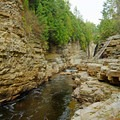 You can see the start of the Adventure Course.- Ausable Chasm