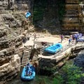 Table Rock, where guests enter the raft ride.- Ausable Chasm