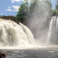 Up close with Rainbow Falls.- Ausable Chasm