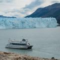 Boat returning to pickup more groups.- Perito Moreno Glacier Hike