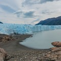 Walking toward the crampon area.- Perito Moreno Glacier Hike