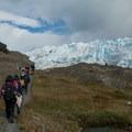 Walking along the glacier to the entry point.- Perito Moreno Glacier Hike