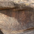 Petroglyphs along the trail.- Mormon Trail to Hidden Valley