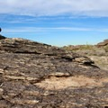 The diverse, rocky terrain.- Mormon Trail to Hidden Valley