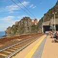 The train station that travels to each of the five towns.- Cinque Terre
