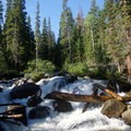 Unnamed waterfall.- Thunder Lake