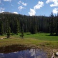 Pond in a meadow that you'll pass along this route.- Thunder Lake