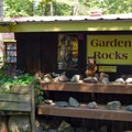 Many geology-related items at the park.- Natural Stone Bridge and Caves Park