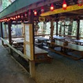 Picnic eating area.- Natural Stone Bridge and Caves Park