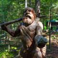 One of the cavemen that welcomes you to the park.- Natural Stone Bridge and Caves Park