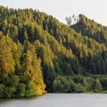 The steep rugged mountains surrounding the lake are quite picturesque.- Loon Lake