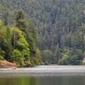 Loon Lake is the only recreational lake in Oregon's Coast Range that allows motorized boating.- Loon Lake