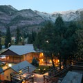 Box Canyon Lodge offers sulfur-free hot spring tubs located steps from the rooms.- Box Canyon Lodge + Hot Springs