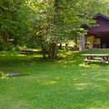 A large picnic area with a covered pavilion is available.- Paradox Lake Campground